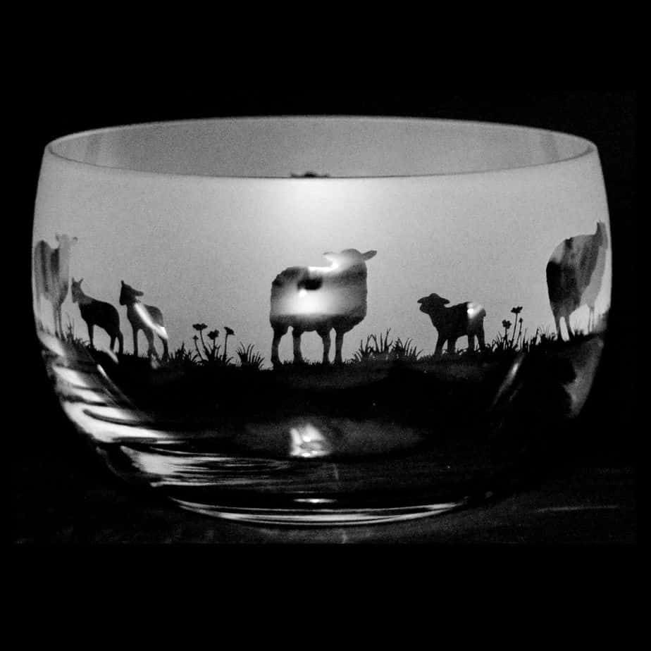 SHEEP Small Crystal Glass Bowl