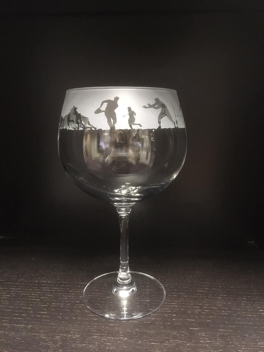 RUGBY 70cl Gin Balloon Glass