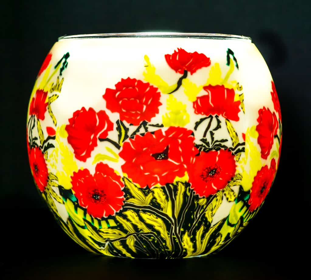 Classic Poppies Light Glass (165138)