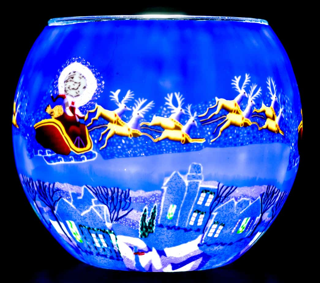 Here Comes Santa Light Glass (165151)