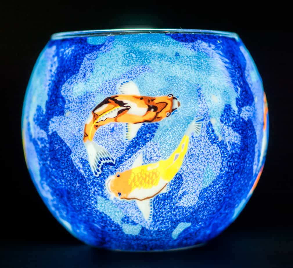 Koi Fish Light Glass (165026)
