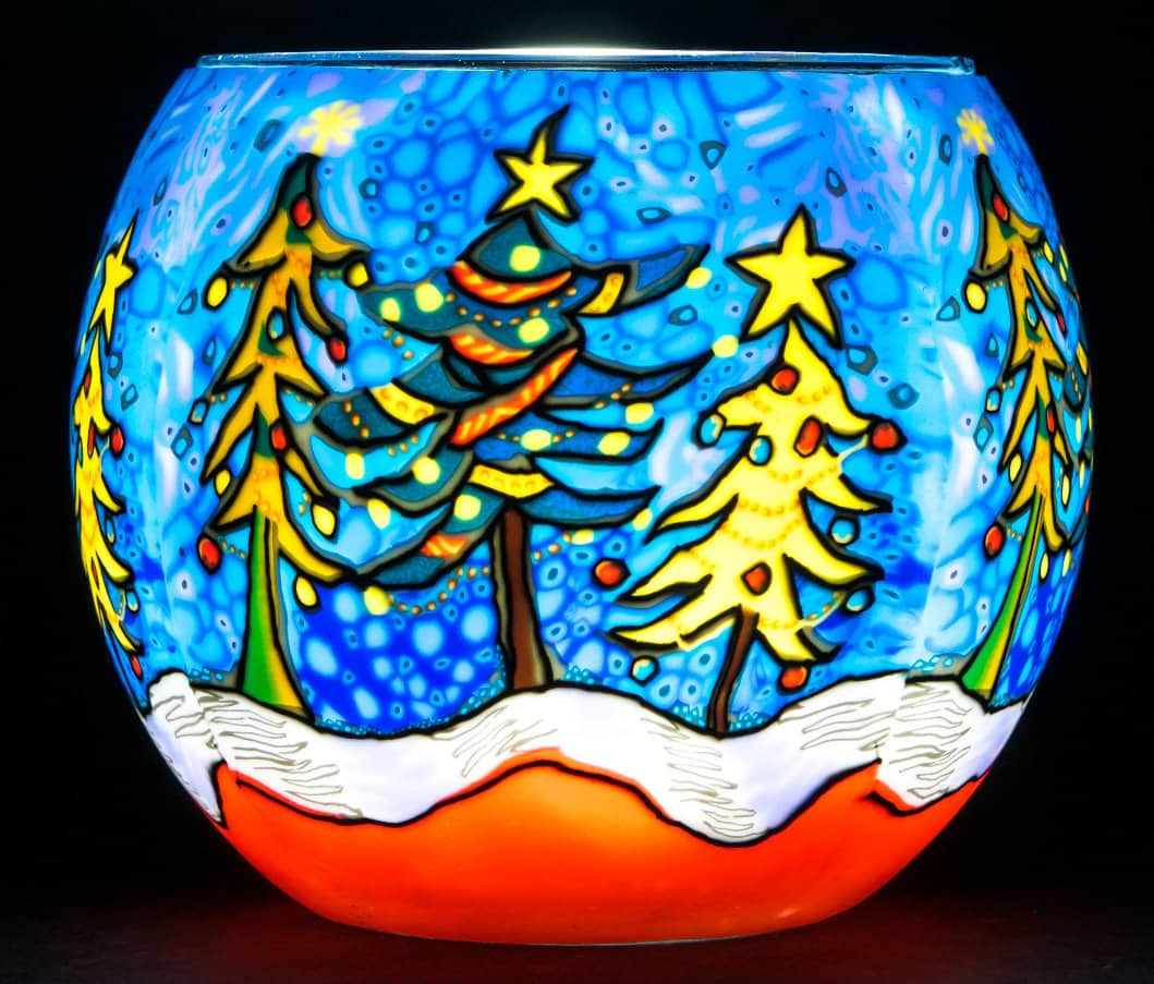 Snowy Christmas Light Glass (171110)
