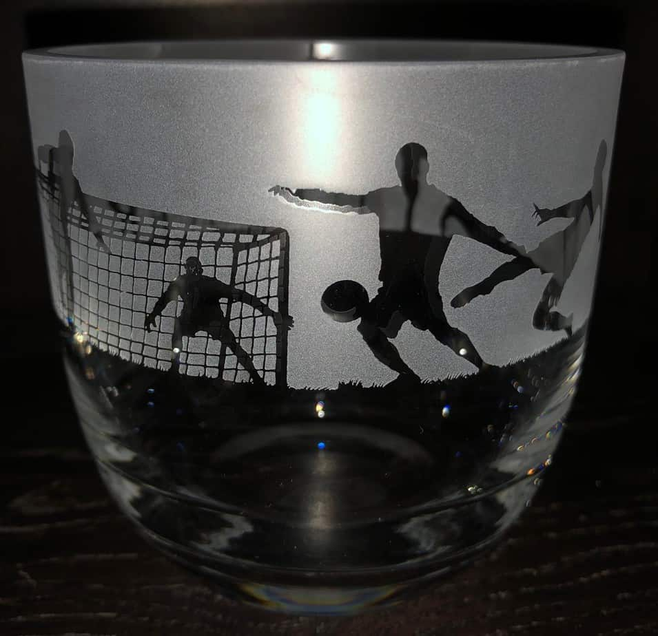 FOOTBALL Candle Pot