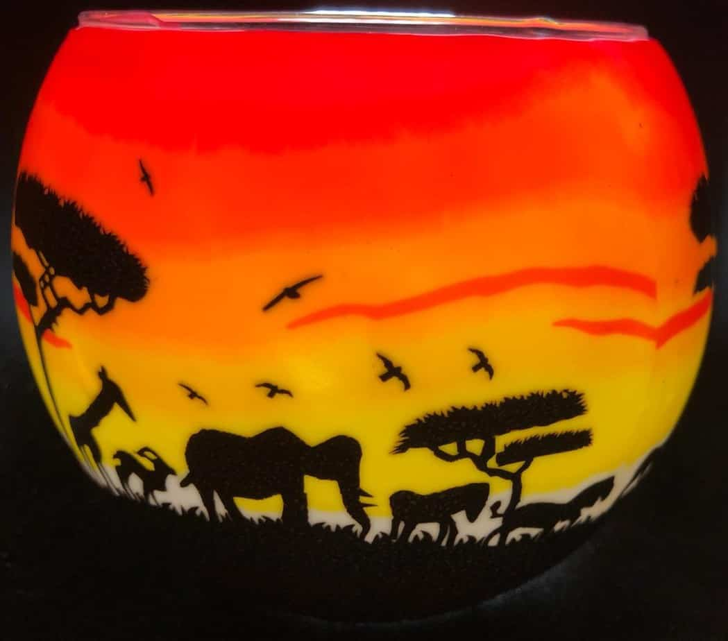 African Sunset Light Glass (205215)