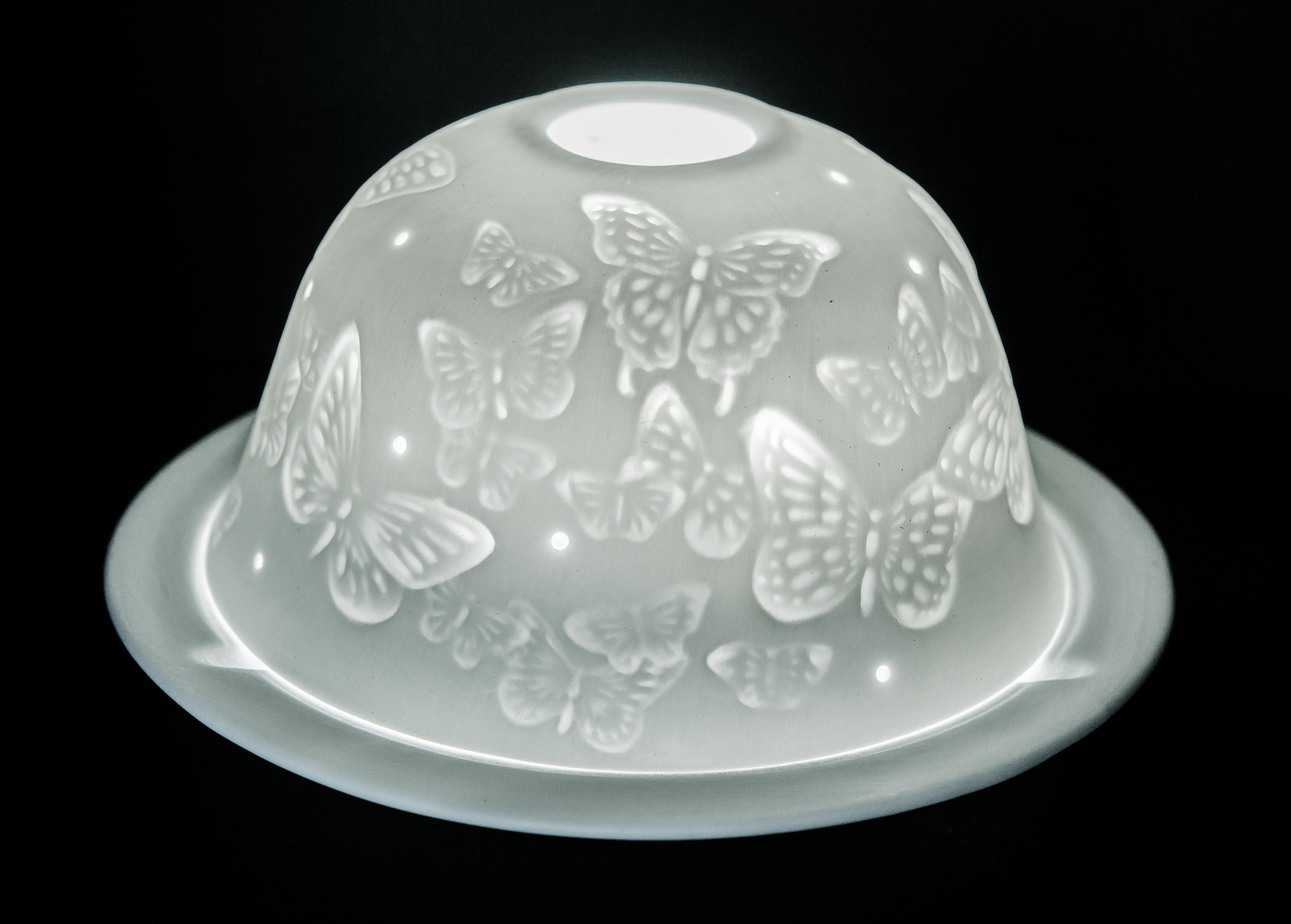 Butterflies Porcelain Dome Tealight Holder
