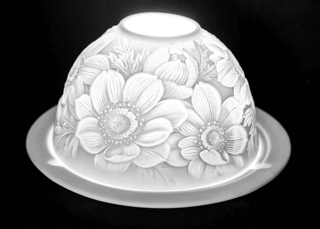 Daisies Porcelain Dome Tealight Holder