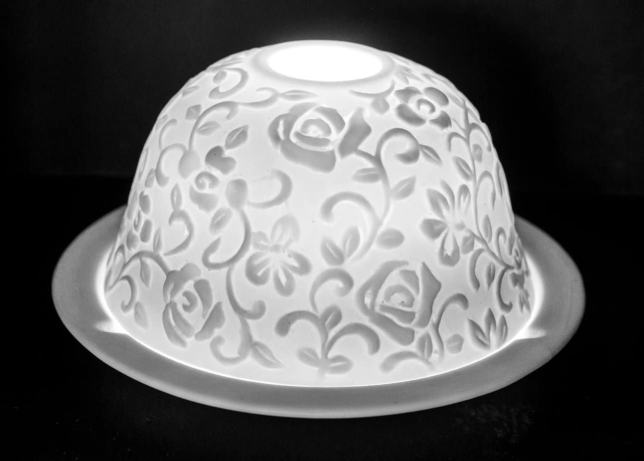 Flower Garden Porcelain Dome Tealight Holder