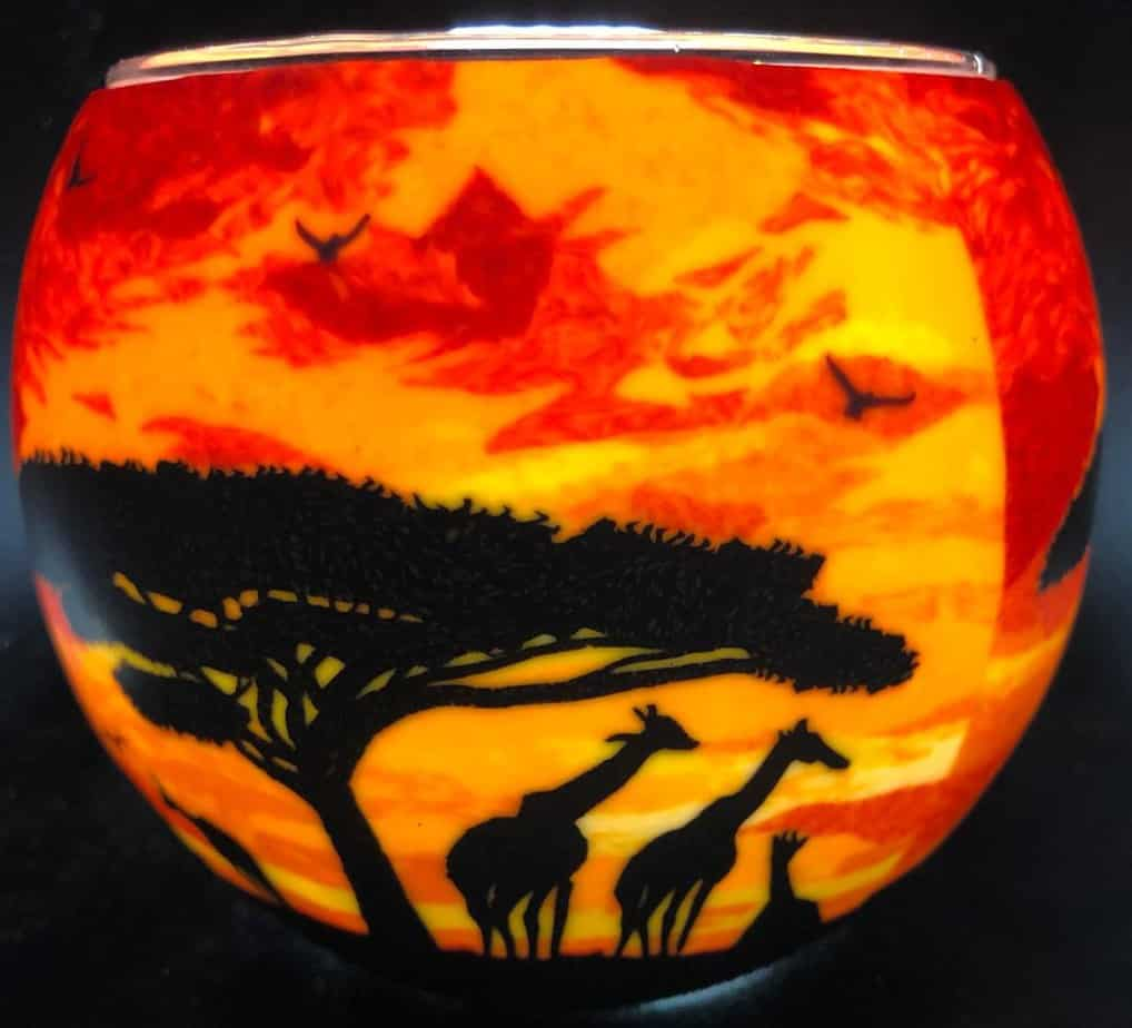 Giraffe Sunset Light Glass (205210)