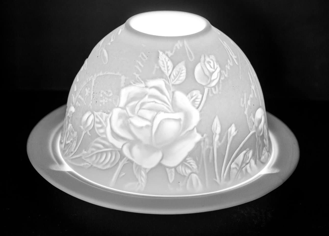 The Rose Porcelain Dome Tealight Holder