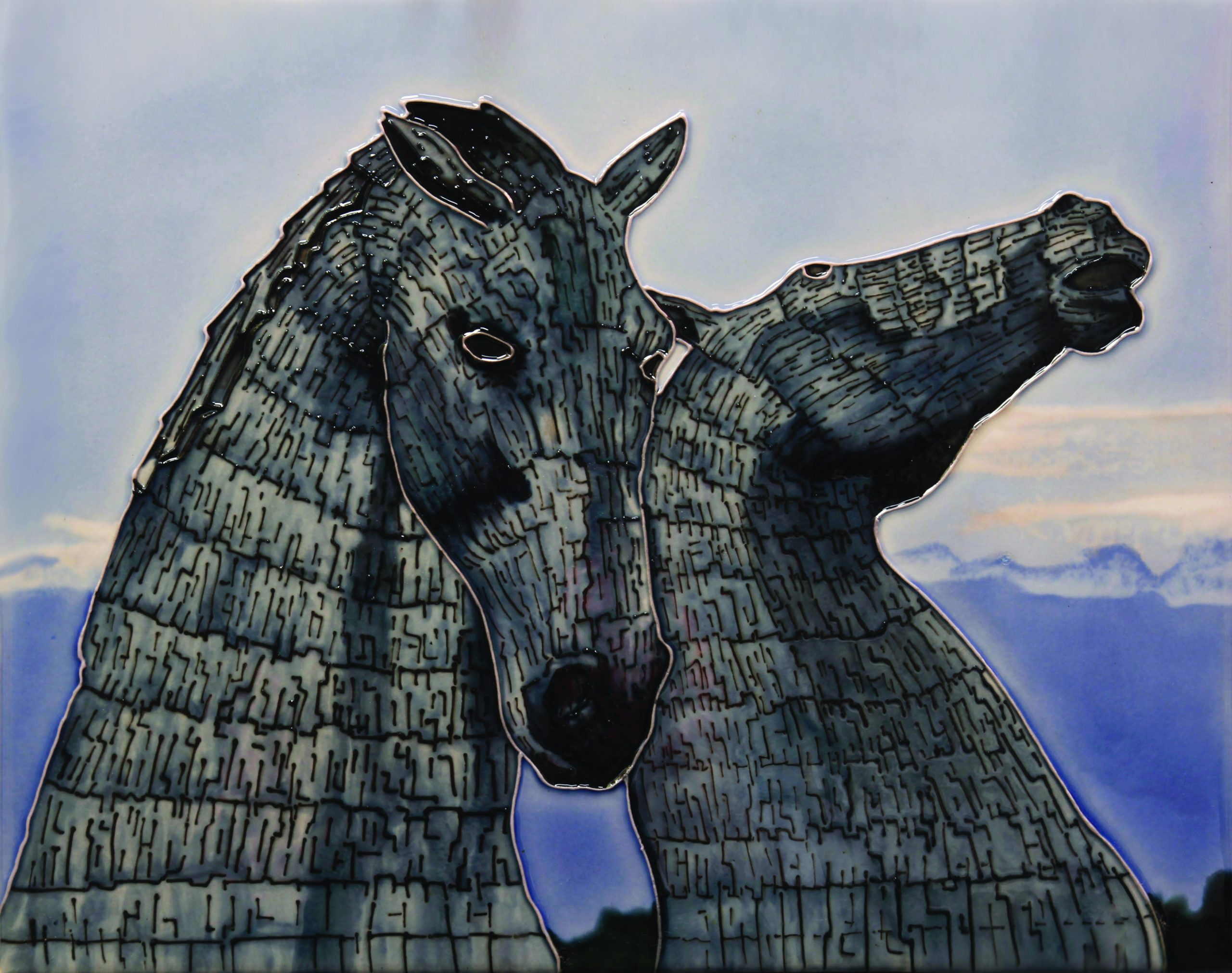 Kelpies At Dawn 11×14 (153137)