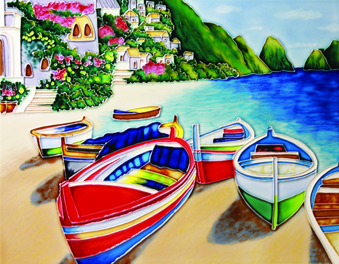 Colourful Boats 2 11×14 (520523)