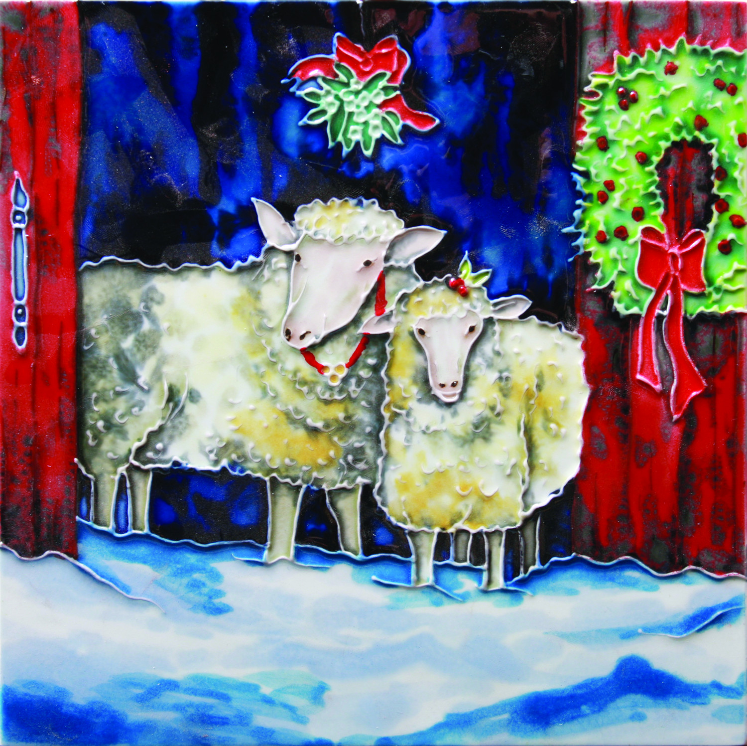 Christmas Sheep 8×8 (104539)
