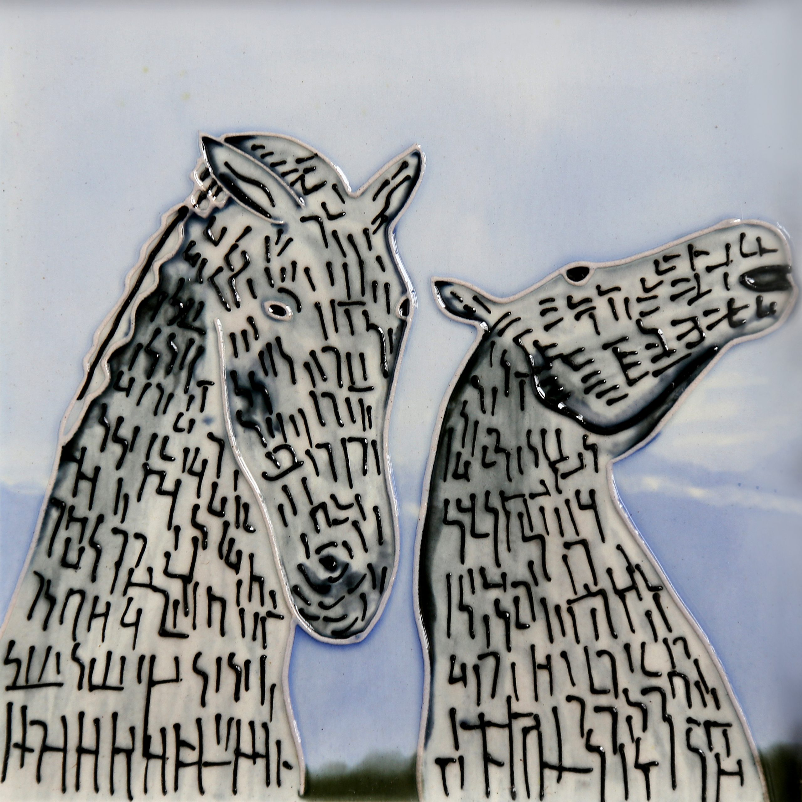 Kelpies At Dawn 8×8 (153265)