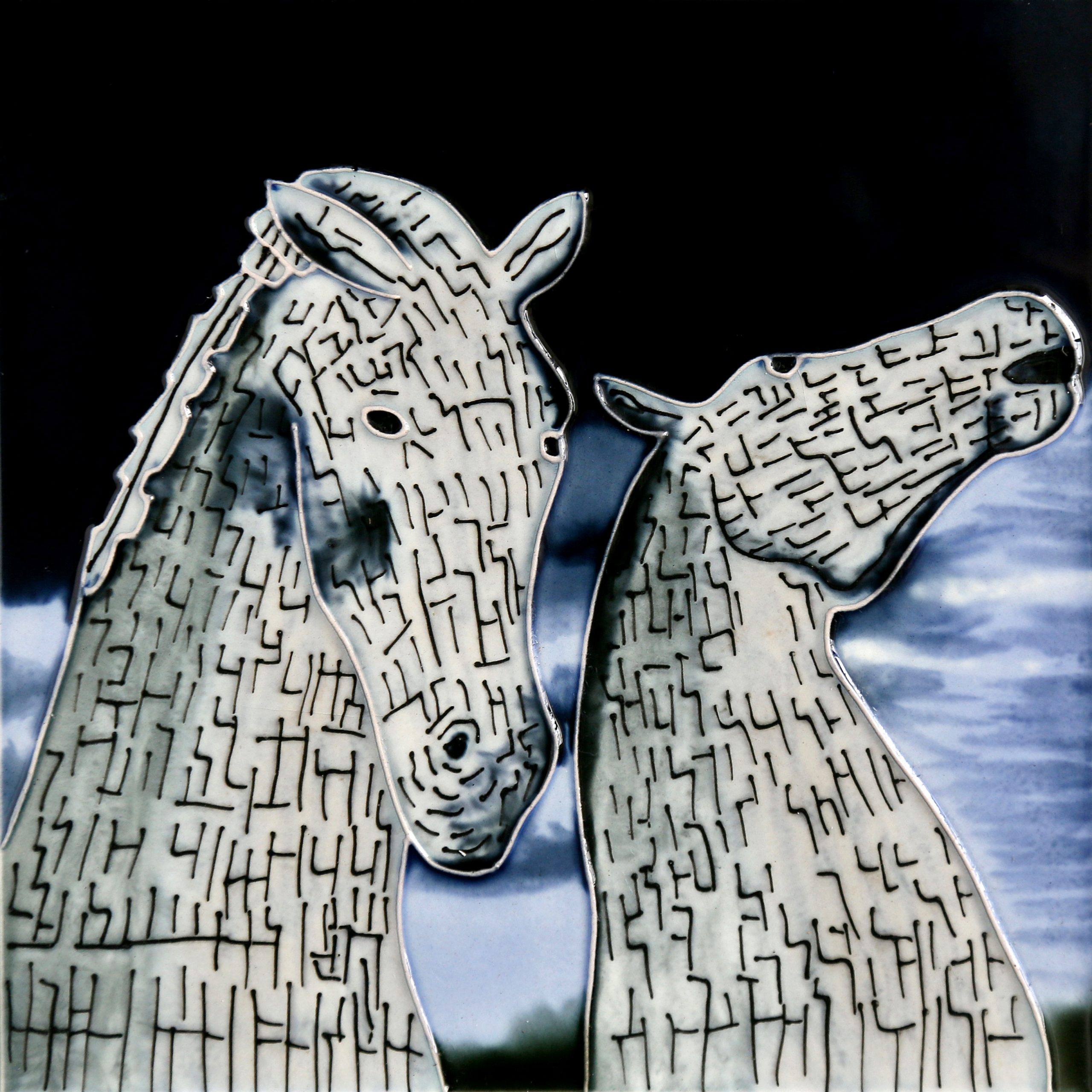 Kelpies At Dusk 8×8 (153312)
