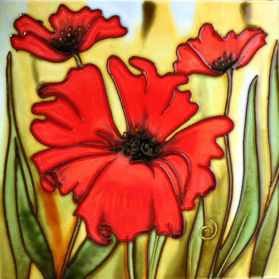 Red Flowers 8×8 (171007)