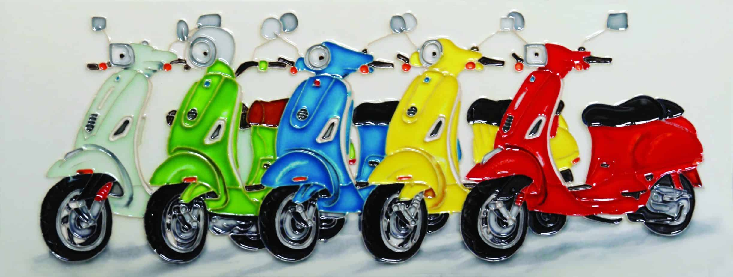 Colourful Scooters 6×16 (153167)
