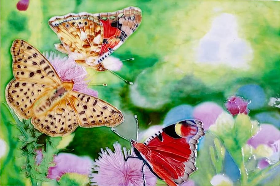 Flower Butterflies 8×12 (171023)