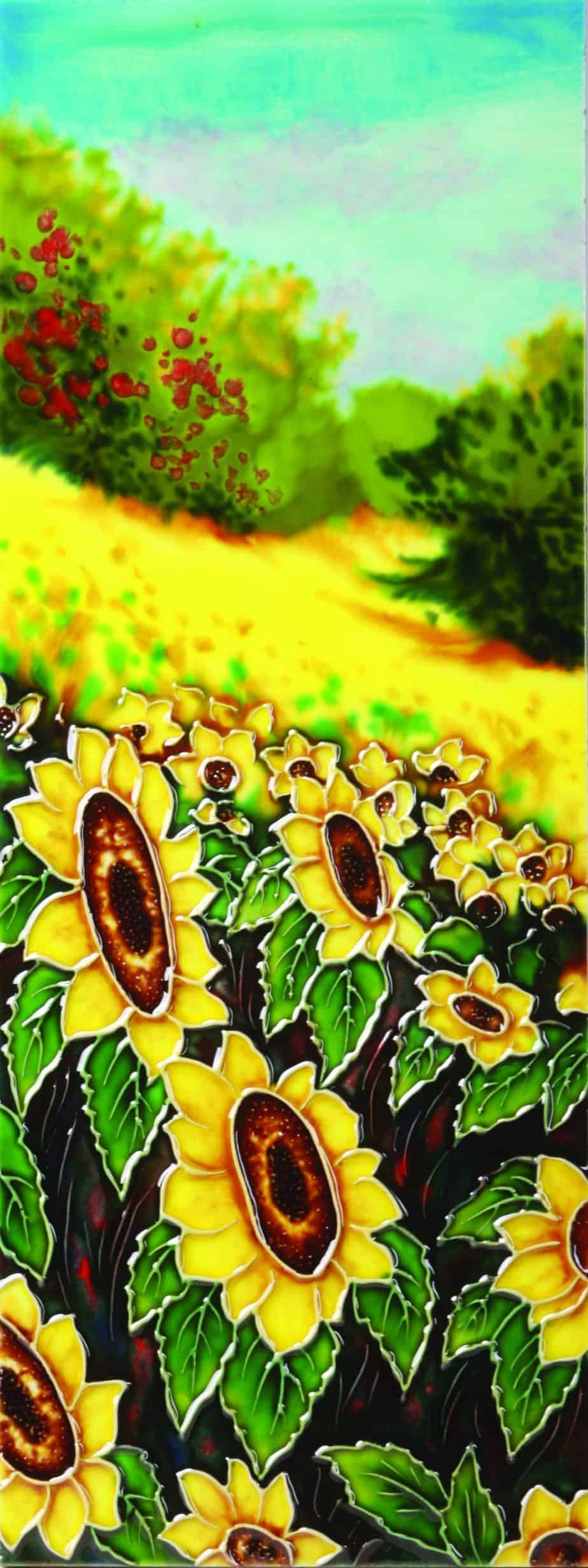 Hill Side Sunflowers 6×16 (520681)