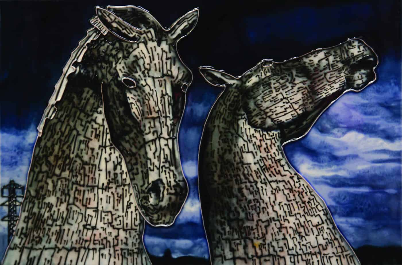 Kelpies At Dusk 8×12 (153072)