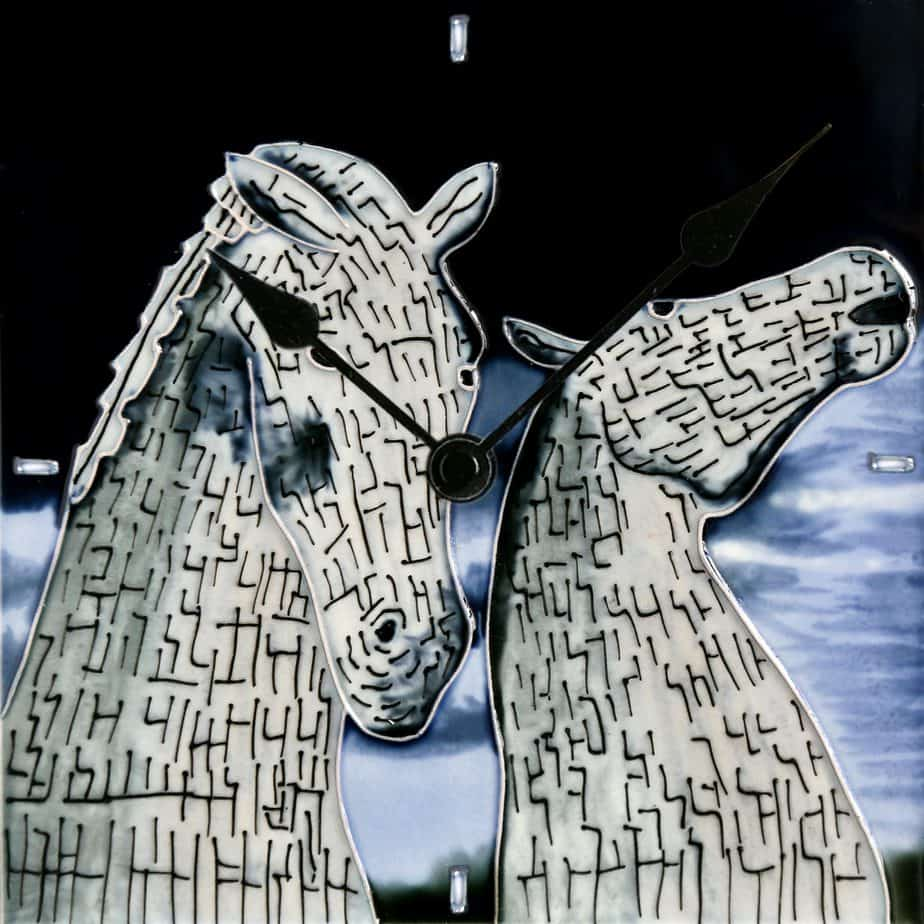 Kelpies At Dusk Clock 8×8 (153302)