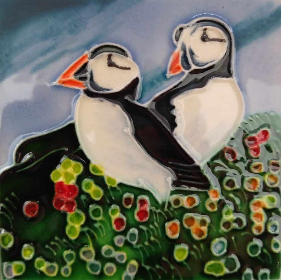 Pair Of Puffins Coaster (171208)