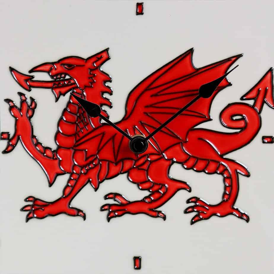 Welsh Dragon Clock 8×8 (153306)